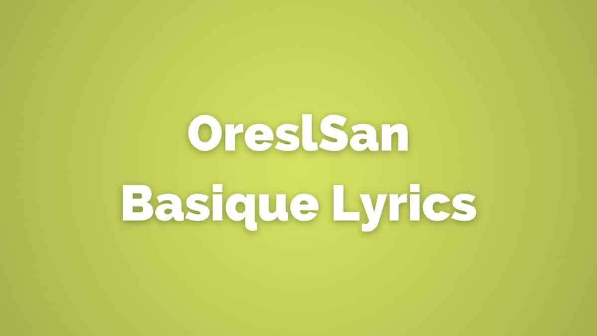 OrelSan Basique lyrics translated in English