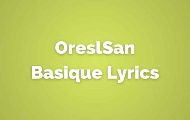 OrelSan Basique lyrics translated in English