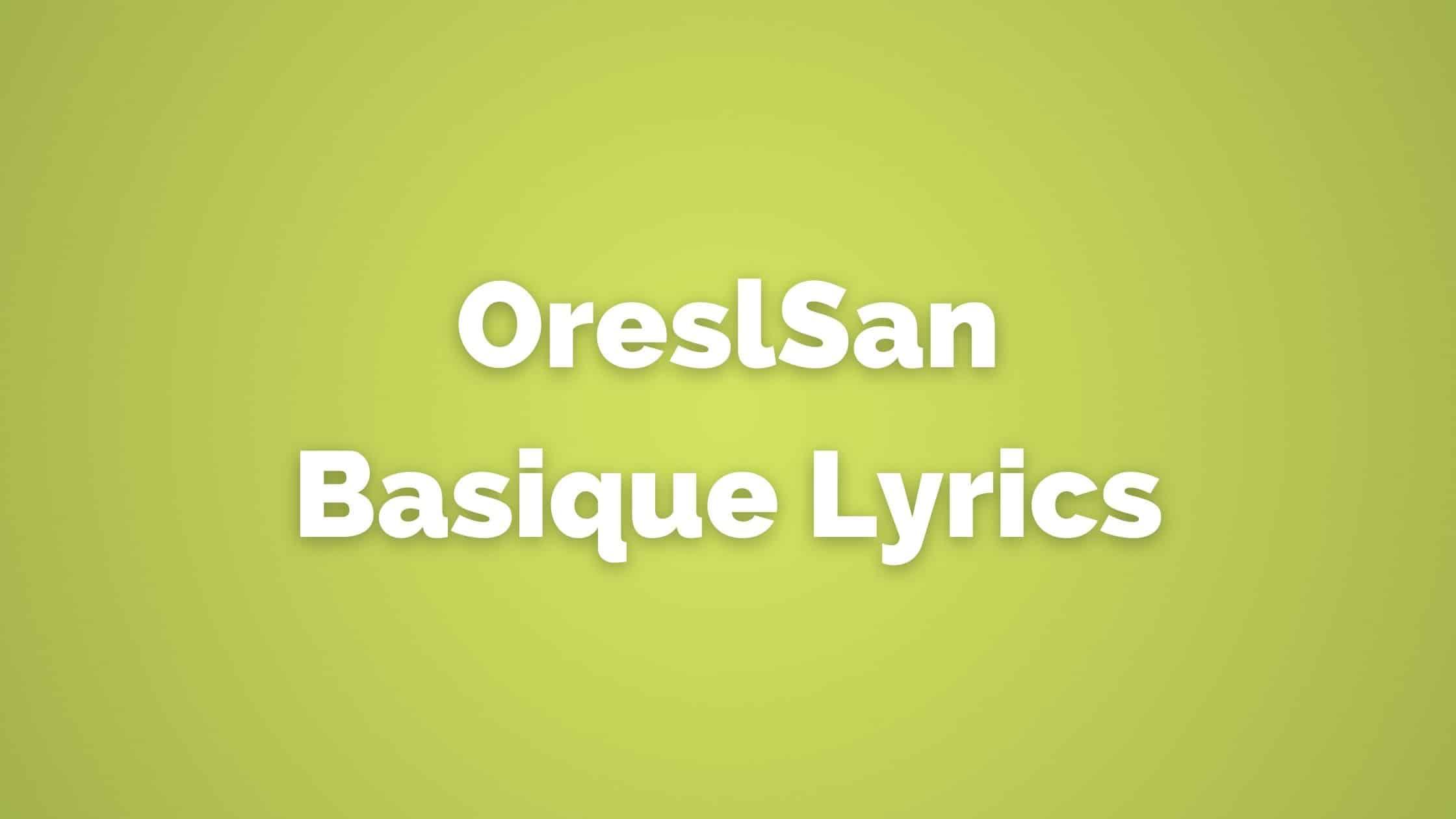 OrelSan - Basique lyrics translated into English - French