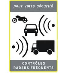Radar sign in France